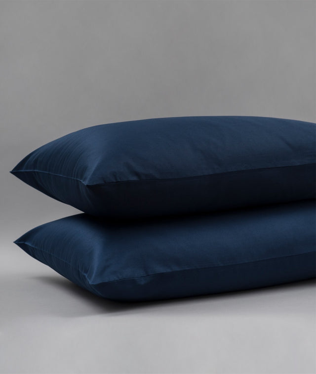 Bhumi Organic Cotton - Sateen Pillow Cases (Pair) - Navy Blue
