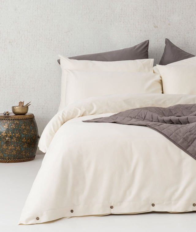 Bhumi Organic Cotton - Quilt Cover Set - Natural