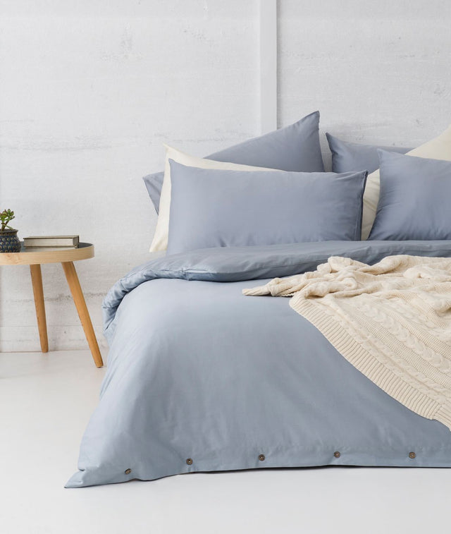 Bhumi Organic Cotton - Quilt Cover Set - Sky Blue