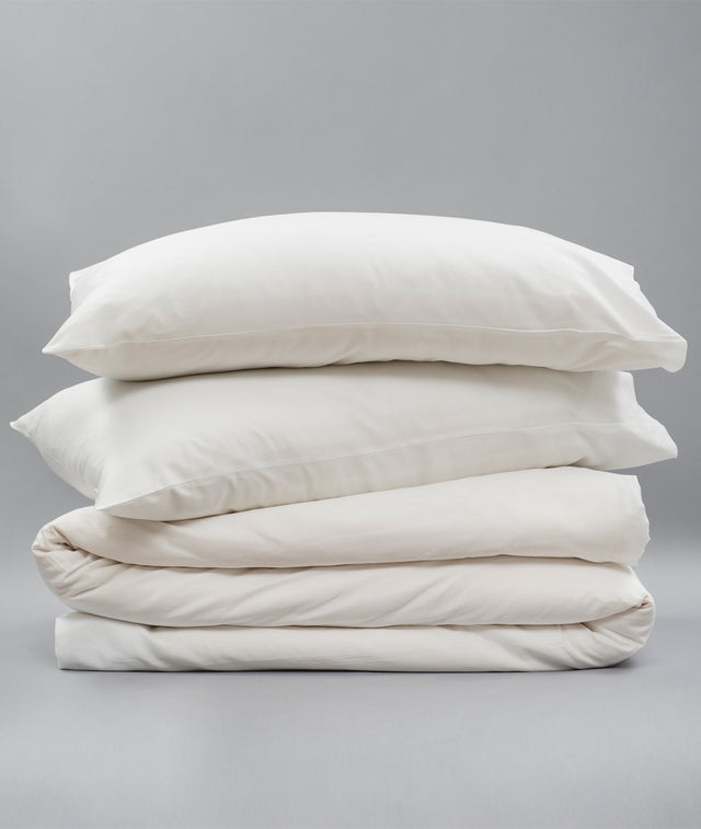 Bhumi Organic Cotton - Sateen Plain Quilt Cover - White