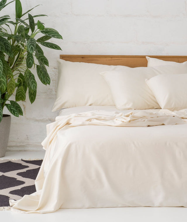 Bhumi Organic Cotton- Sateen Sheet Set - Natural