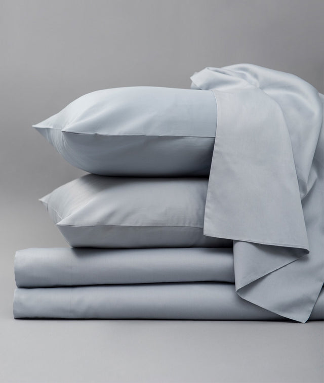 Bhumi Organic Cotton- Sateen Sheet Set - Sky Blue