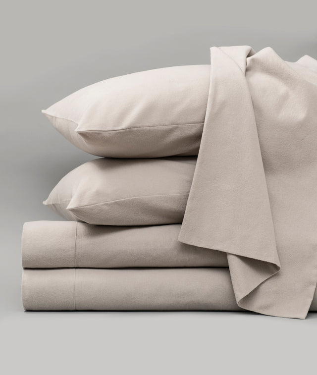 Bhumi Organic Cotton - Flannel Sheet Set - Light Grey
