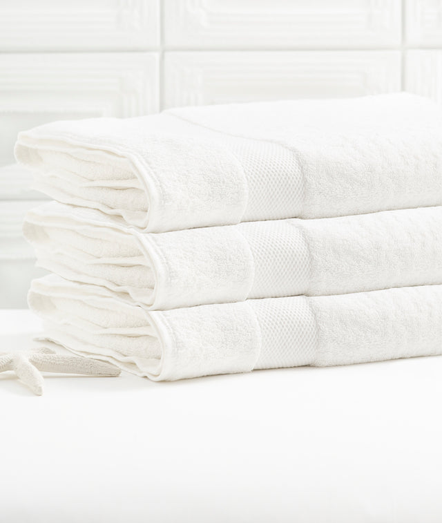 Bhumi Organic Cotton - Bath Towel - 3 Pack - White