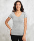 Bhumi Organic Cotton - Womens V Neck Tee - Grey