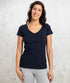 Bhumi Organic Cotton - Womens V Neck Tee - Navy