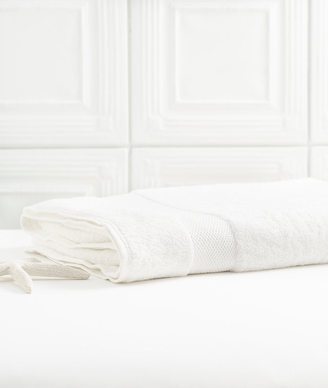 Bhumi Organic Cotton - Bath Sheet  - White