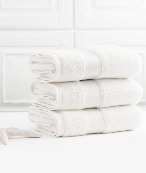 Bhumi Organic Cotton - Hand Towel - 3 Pack - White