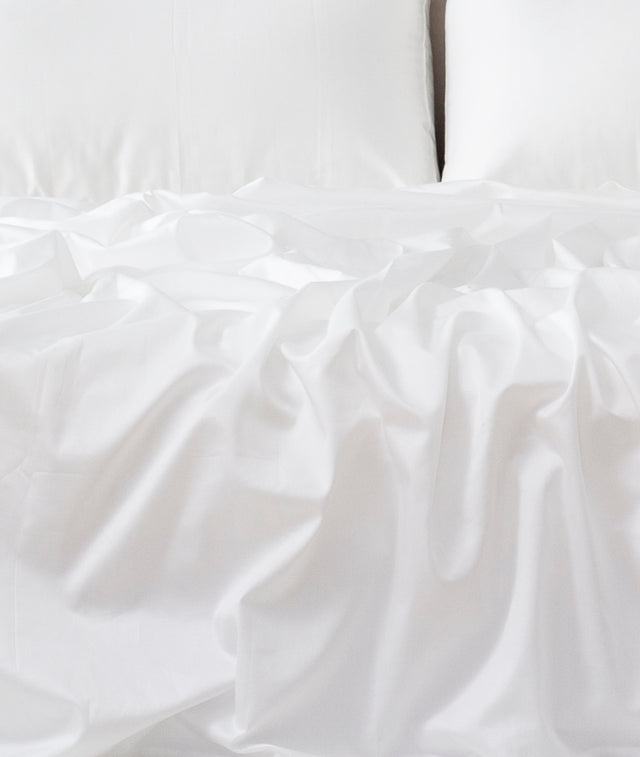 Bhumi Organic Cotton - Percale Sheet Set - White