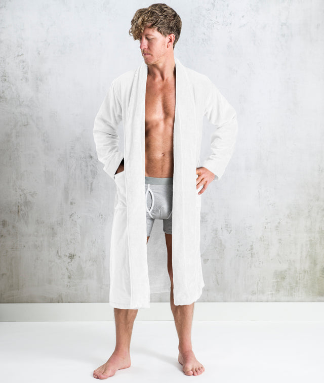 Bhumi Organic Cotton - Spa Robe - White