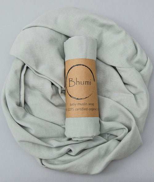 Bhumi Organic Cotton - Baby Muslin Wrap - Cloud