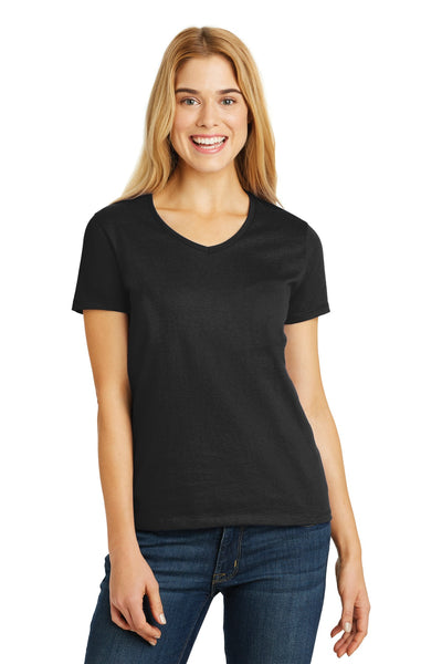 Hanes® Ladies ComfortSoft® V-Neck Tee. 5780