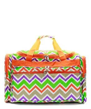 Chevron Duffel Bag (DB126) with Embroidery