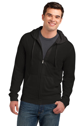 District® Young Mens Jersey Full-Zip Hoodie. DT1100