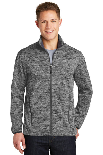 Sport-Tek® PosiCharge® Electric Heather Soft Shell Jacket. JST30