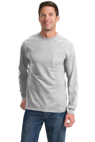 Port & Company® - Long Sleeve Essential Pocket Tee.  PC61LSP
