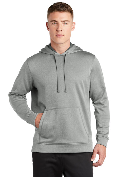 Sport-Tek ® PosiCharge ® Sport-Wick ® Heather Fleece Hooded Pullover. ST264