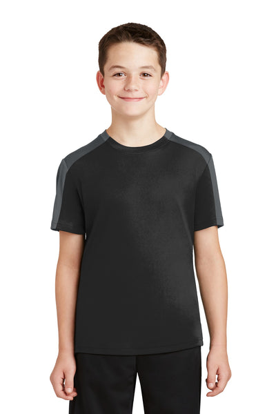 Sport-Tek® Youth PosiCharge® Competitor™ Sleeve-Blocked Tee. YST354