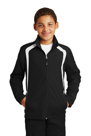 Sport-Tek® Youth Colorblock Raglan Jacket. YST60