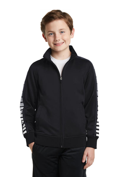 Sport-Tek® Youth Dot Sublimation Tricot Track Jacket. YST93