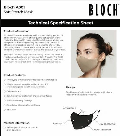 BLOCH B-Safe Mask - Child