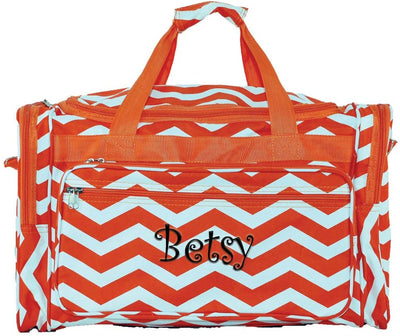 Chevron Duffel Bag (DB166) with Embroidery