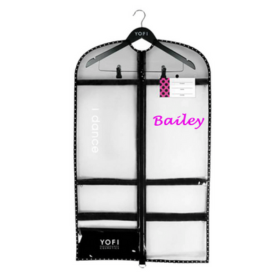 Yofi garment bag with personalization