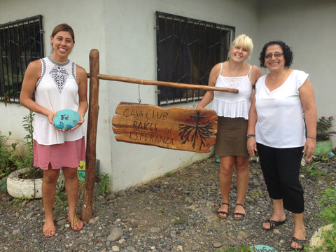 Running on Faith. Teachers Amy Huerta and Paula with government appointed staff member Vicky, at the Parrita Clubhouse