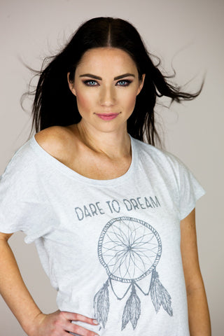 'DARE TO DREAM' Light Heather Gray Tee