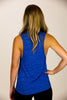 'KINDNESS' Blue Marble Flowy Scoop Muscle Tank