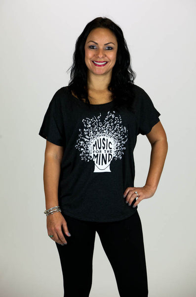 'MUSIC FOR THE MIND' Collaboration Women's Vintage Black Tee