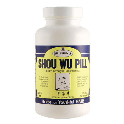 SHOU WU PILLS, Dr Shen's, for  Alopecia, Hair Loss, Gray Har