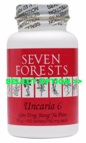 Uncaria 6, traditional Chinese Medicine for High Blood Pressure