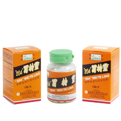 "WEI TE LING ""204"", traditional Chinese Medicine for Heartburn and Ulcers"