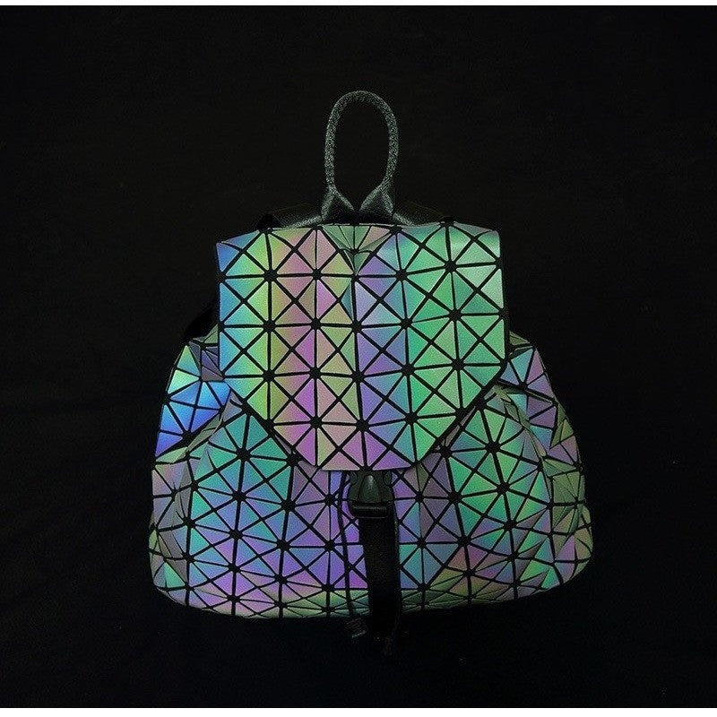 Luminous Lady Geometric Backpack