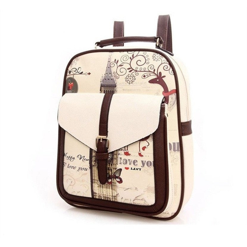 GOOD PICKNEY™ Backpack Mochanilla PU Leather Backpack