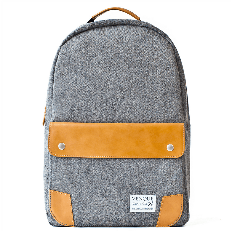 GOOD PICKNEY™ Backpack grey Venque Classic Grey & Brown