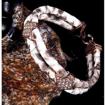 GOOD PICKNEY™ Bracelet Natural Python Leather Bracelet