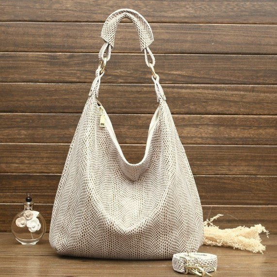 Genuine Leather Embossed Casual Bag
