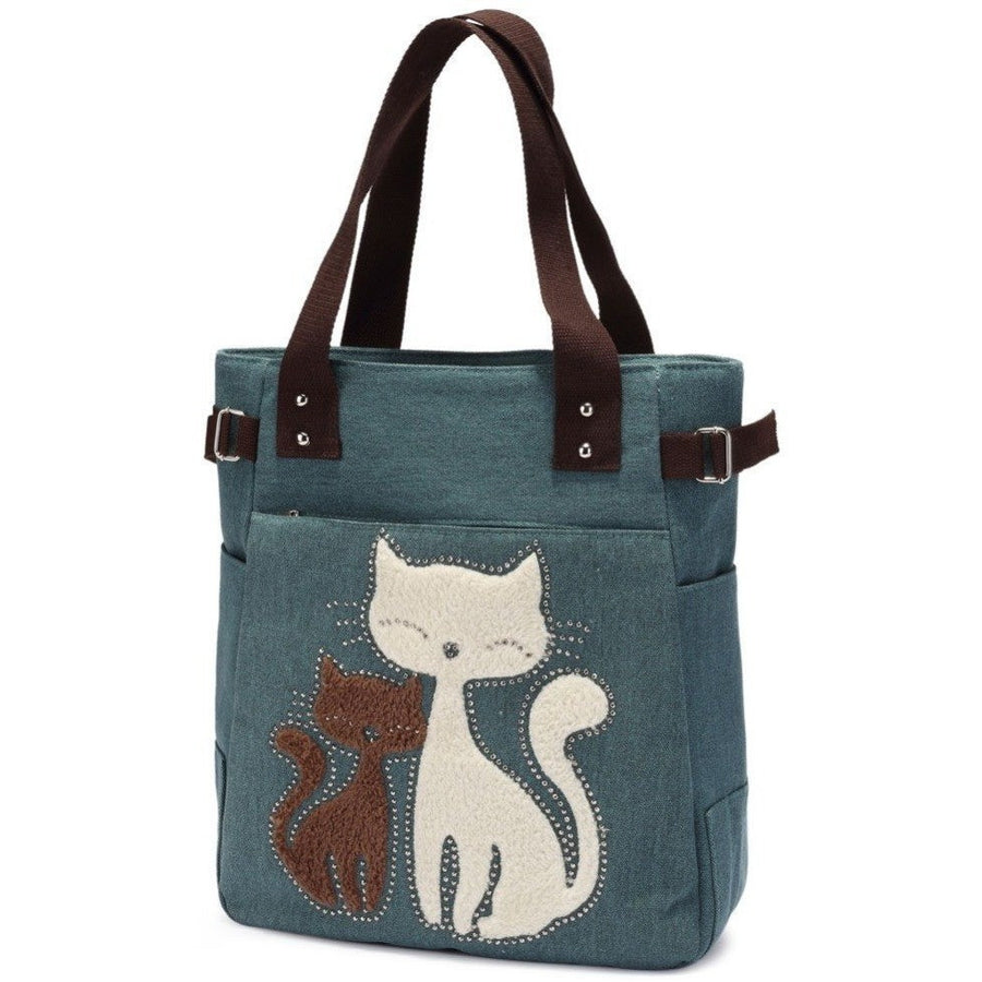 Large Canvas Cat Tote