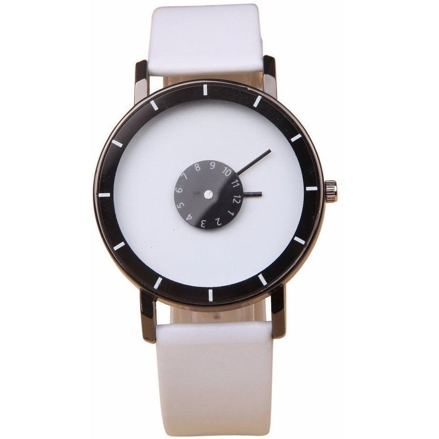 GOOD PICKNEY™ Mens Watch Black Creative Personality Leather Watch