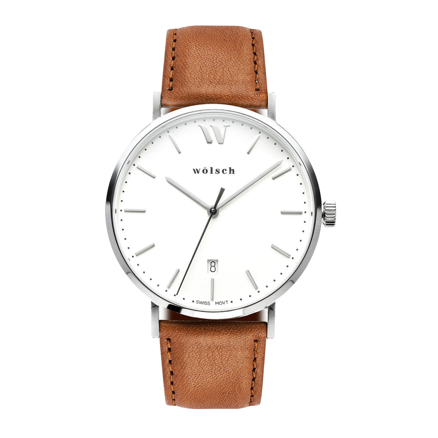 GOOD PICKNEY™ ROSE GOLD / MAN WOLSCH VERSA 40 - GENUINE LEATHER TAN