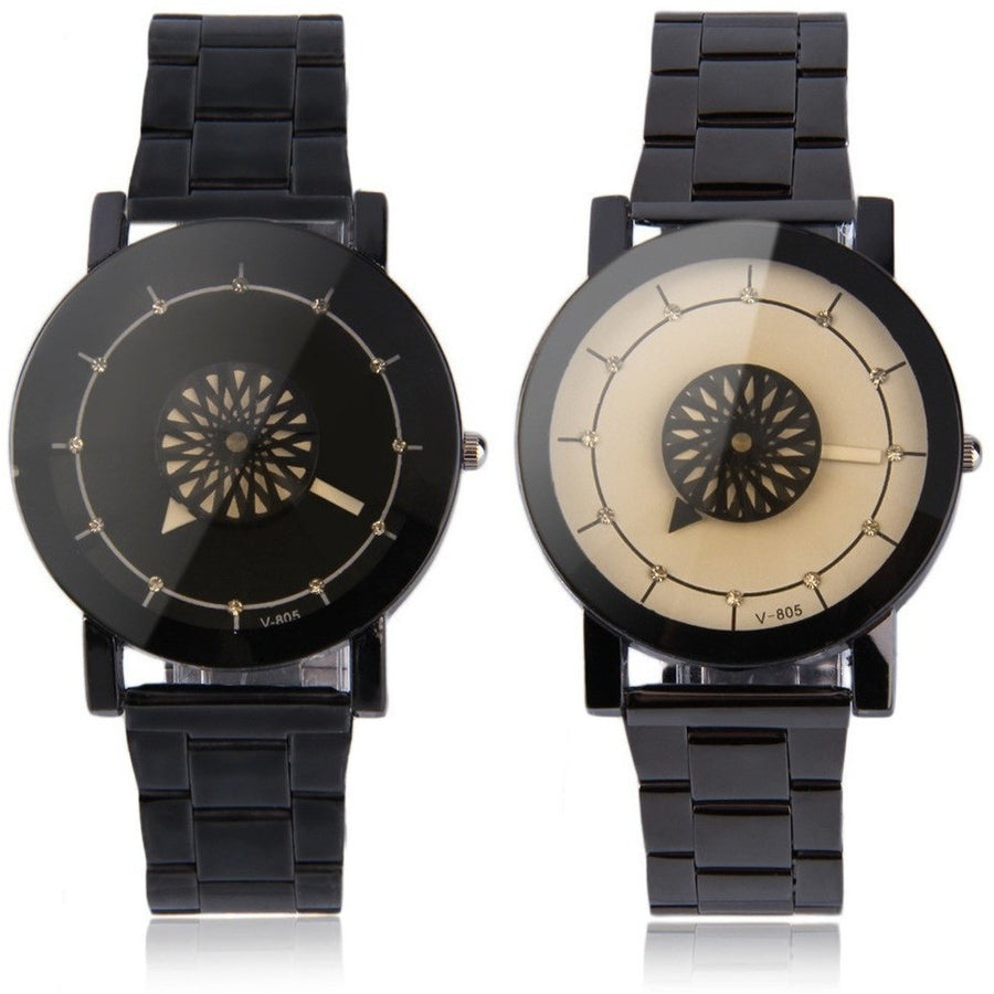 Flower Rotation Dial Design Unisex Watches