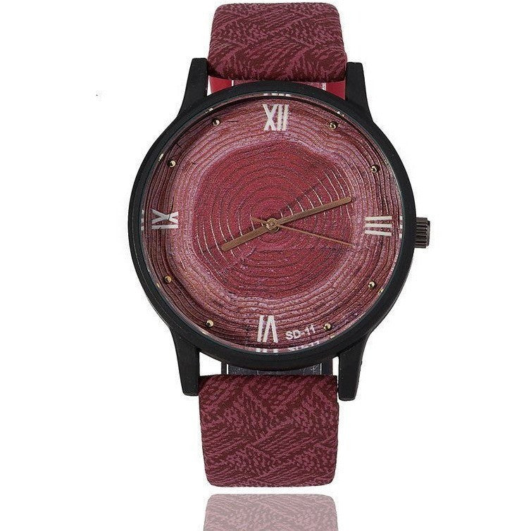 Stylish Wood Design Watch