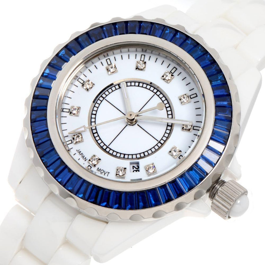 TIME100 official store Women's Watches Blue Centuria Ceramic Watch