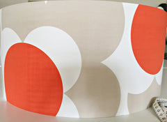 orla kiely orange flowers retro lampshade