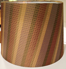 Large tapered gold bronze bespoke lampshade