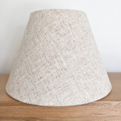 cream harris tweed coolie tapered lampshade