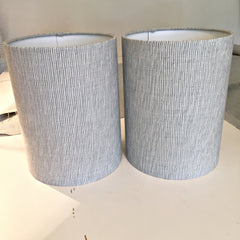 silver and blue bespoke bedside table lamps