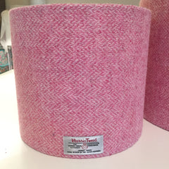 blush pink harris tweed bespoke lampshade